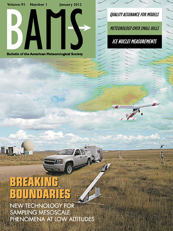 January 2012 cover of Bulletin of the American Meteorological Society